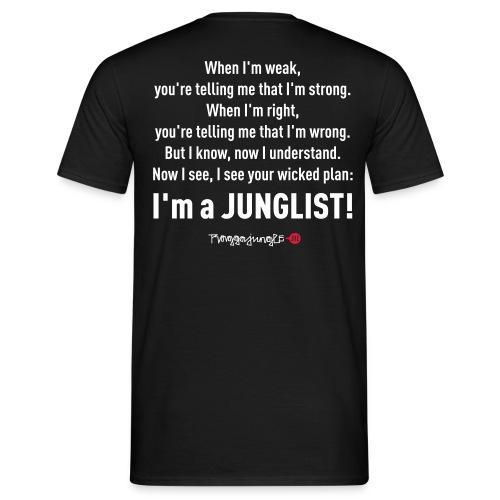 TRUE JUNGLIST - shirt lyrics #1 black - Men's T-Shirt
