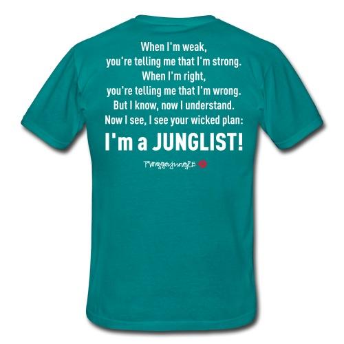 TRUE JUNGLIST - shirt lyrics #1 blue - Men's T-Shirt