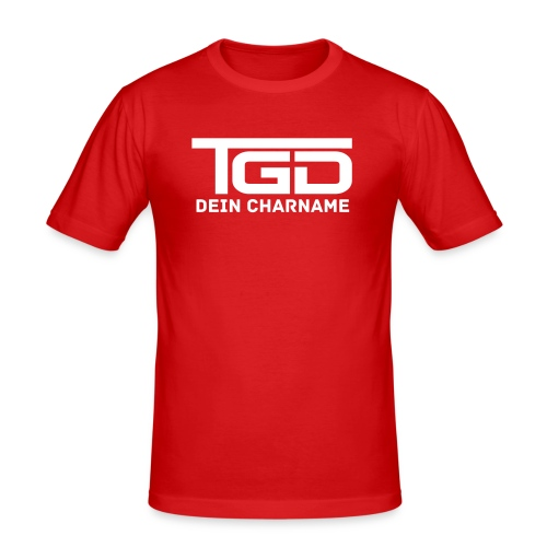 TGD Plain (Man Slim) - Männer Slim Fit T-Shirt