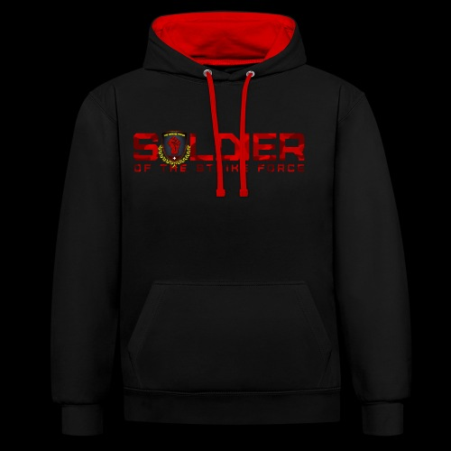 Soldier of the Strike Force Contrast Hoodie - Contrast Colour Hoodie