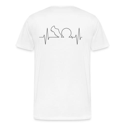 Fussballherz - Männer Premium T-Shirt