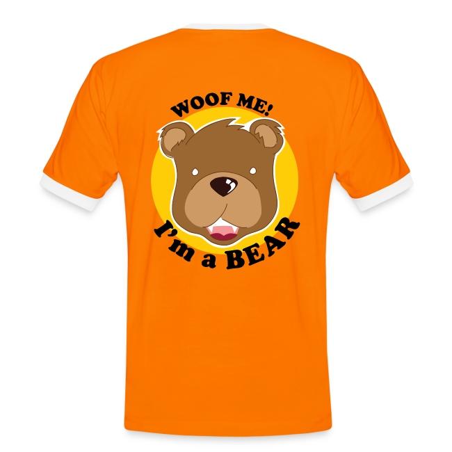 "T-shirt Grrrnoble bear, dos ""Woof me!"""