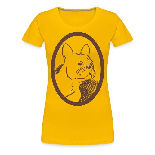 Frenchie tee - Premium-T-shirt dam
