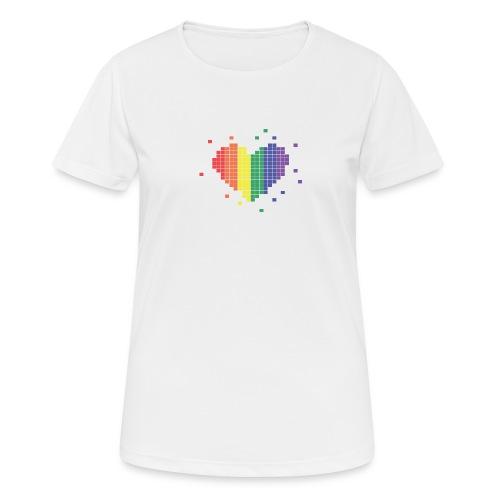 Pixel Rainbow heart - Women's Breathable T-Shirt