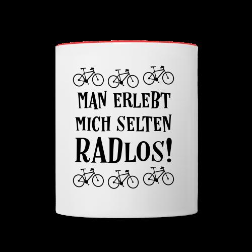 Coole Fahrrad Sprüche - Selten radlos - Tasse - Tasse zweifarbig