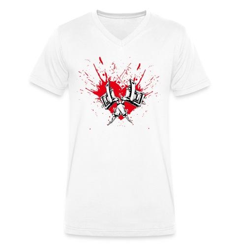 Splash Garage Man - Männer Bio-T-Shirt mit V-Ausschnitt von Stanley & Stella