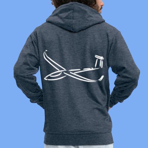 Segelflugzeug Segelflieger Geschenk Bekleidung 'JS3' - Men's Premium Hooded Jacket