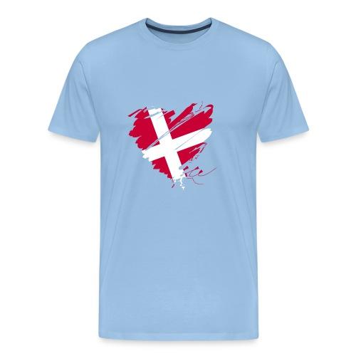 Dänemark Skandinavien Europa EU Flagge Herz hygge - Men's Premium T-Shirt
