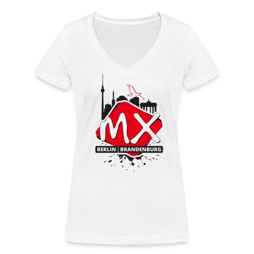 MXBB Frauen Shirt 3 - Frauen Bio-T-Shirt mit V-Ausschnitt von Stanley & Stella
