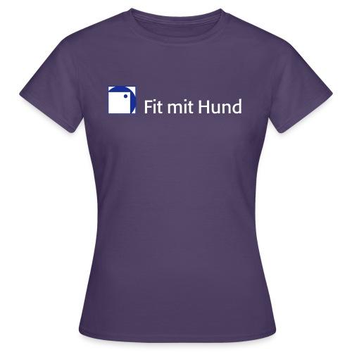 Fit mit Hund® T-Shirt Frau - classic (dunkle Farben, fällt eine Nummer kleiner aus) - Frauen T-Shirt