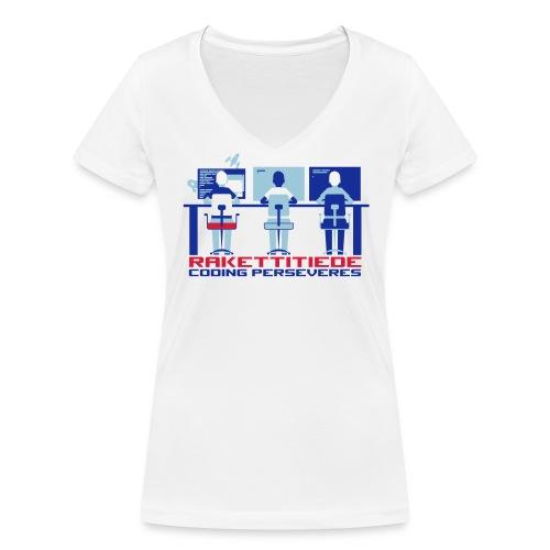 Persefemme CREAM - Stanley & Stellan naisten v-aukkoinen luomu-T-paita