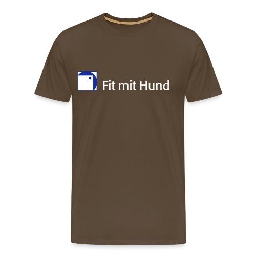 Fit mit Hund® T-Shirt Mann - premium, normaler Schnitt (dunkle Farben) - Männer Premium T-Shirt