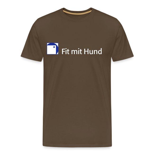 Dunkle Farben.Fit Mit Hund T Shirt Mann Premium Normaler Schnitt Dunkle Farben Männer Premium T Shirt