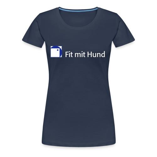 Fit mit Hund® T-Shirt Frau - premium, normaler Schnitt (dunkle Farben) - Frauen Premium T-Shirt