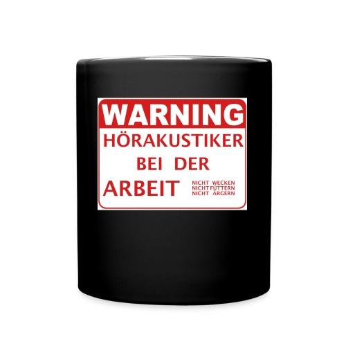 Warnung! - Tasse einfarbig