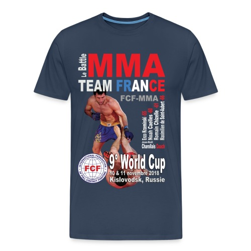 Tee-shirt France World Cup 2018 marine homme - T-shirt Premium Homme