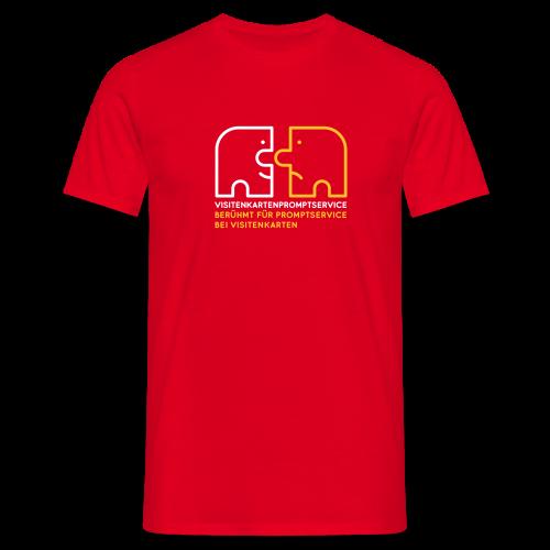 Visitenkartenpromptservice – berühmt für Promptservice bei Visitenkarten - Männer T-Shirt