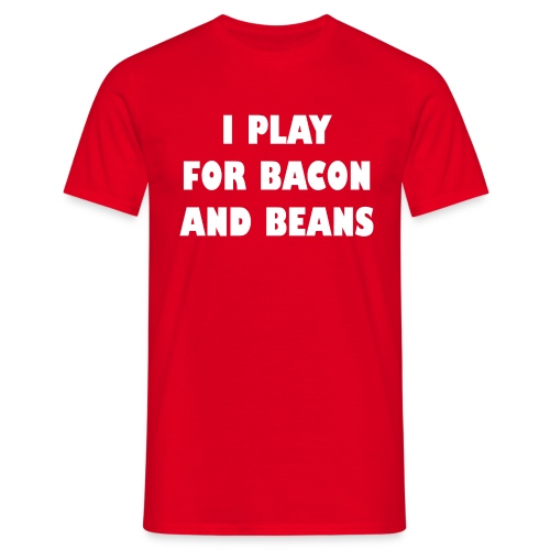 For bacon and beans - heren - Mannen T-shirt