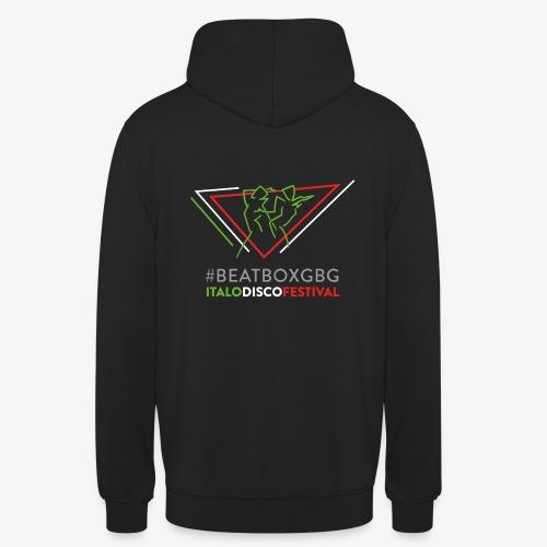 Hoodie, unisex: #BEATBOXGBG [black, 3 col back logo] - Luvtröja unisex
