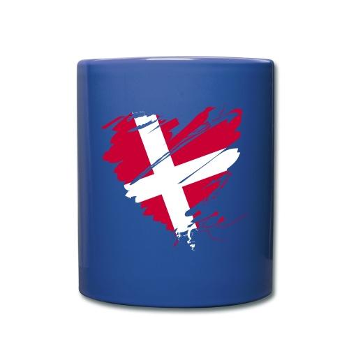 Dänemark Skandinavien Europa EU Flagge Herz hygge - Tasse einfarbig