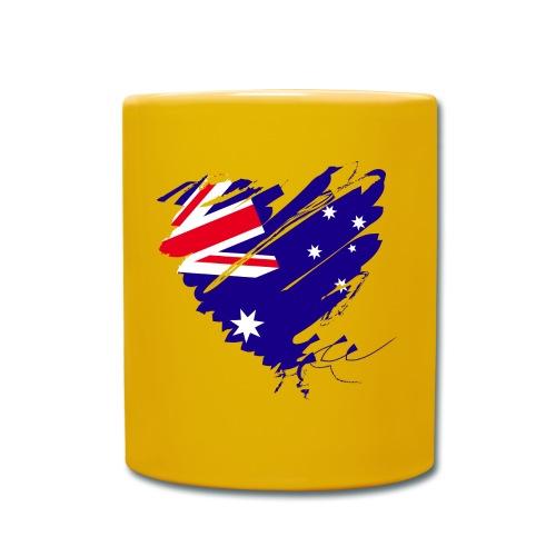 Australien Sydney Kontinent Grunge Herz Flagge - Tasse einfarbig