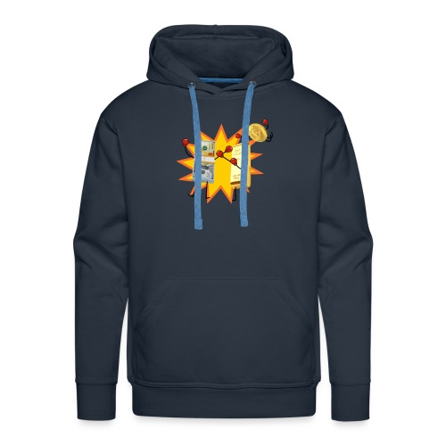 SWEAT HOMME BITCOIN - Sweat-shirt à capuche Premium pour hommes