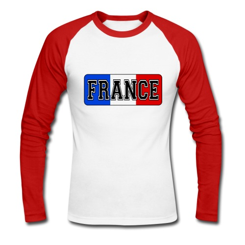 France tricolore - T-shirt baseball manches longues Homme