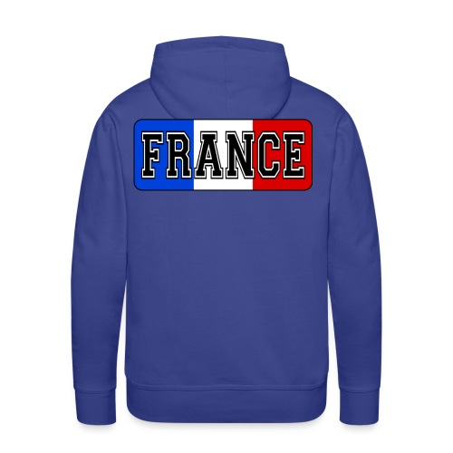 France tricolore - Sweat-shirt à capuche Premium pour hommes