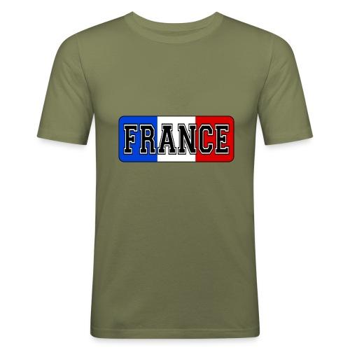 France tricolore - T-shirt près du corps Homme