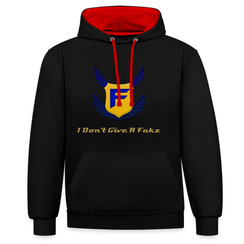 I Don't Give A Fakz Hoodie - Contrast Colour Hoodie
