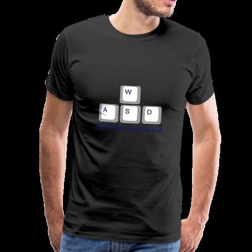 Gaming WASD Black T-Shirt - Men's Premium T-Shirt