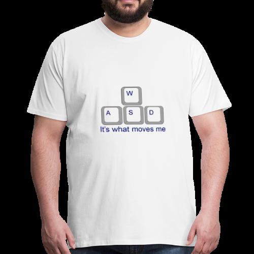Gaming WASD White T-Shirt - Men's Premium T-Shirt