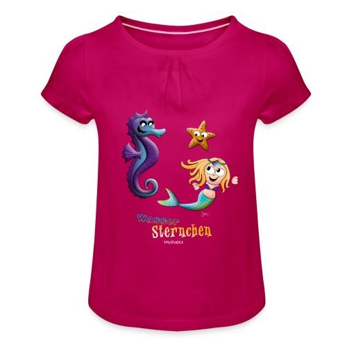 WasserSternchen - Mädchen-T-Shirt mit Raffungen