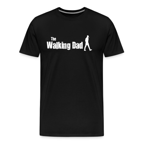 The walking dad white text on black - Men's Premium T-Shirt