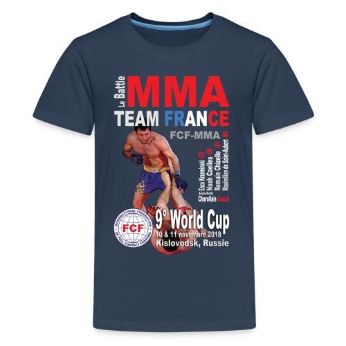 Tee-shirt World Cup 2018 marine ados - T-shirt Premium Ado