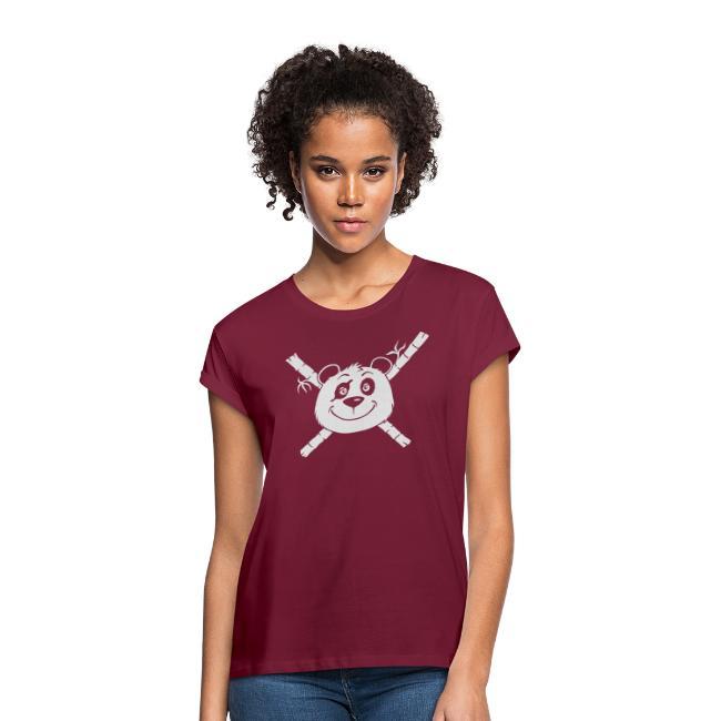 Panda Pirat - Frauen Overzise T-Shirt