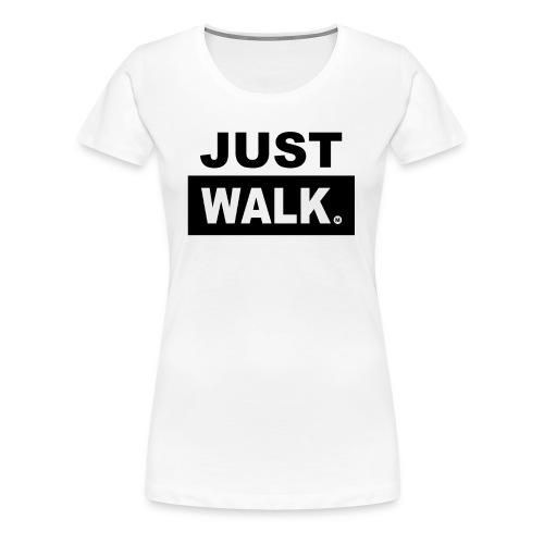 Dames Premium T-Shirt in wit - Vrouwen Premium T-shirt