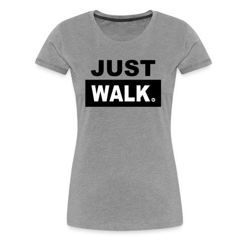 Dames Premium T-Shirt in lichtgrijs - Vrouwen Premium T-shirt