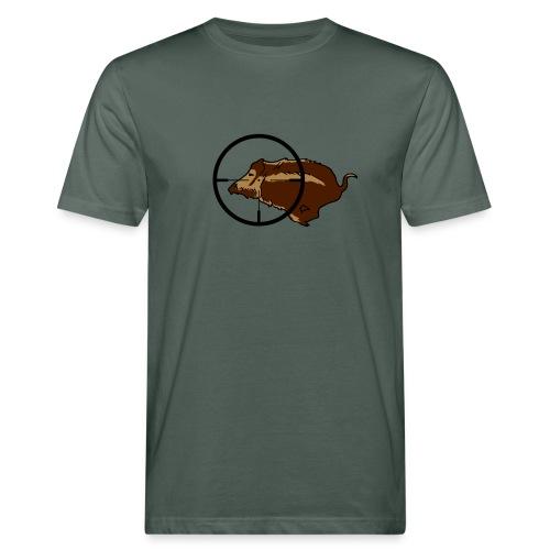 Jagdshirt Wildschwein Keiler - Männer Bio-T-Shirt