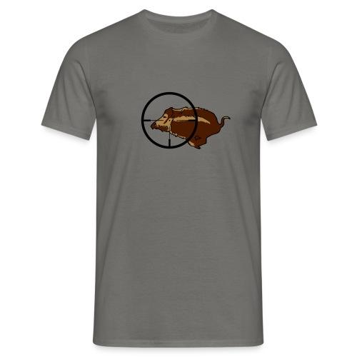Jagdshirt Wildschwein Keiler - Männer T-Shirt