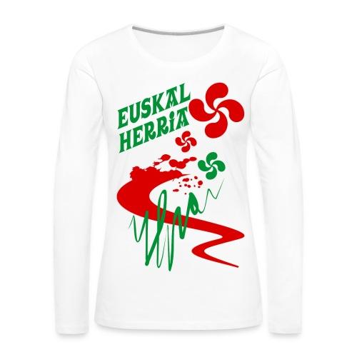 Pays Basque - T-shirt manches longues Premium Femme