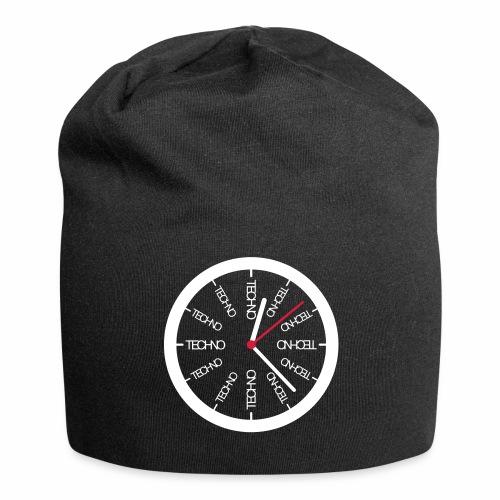 Uhr Techno All Time - Beanie - Jersey-Beanie