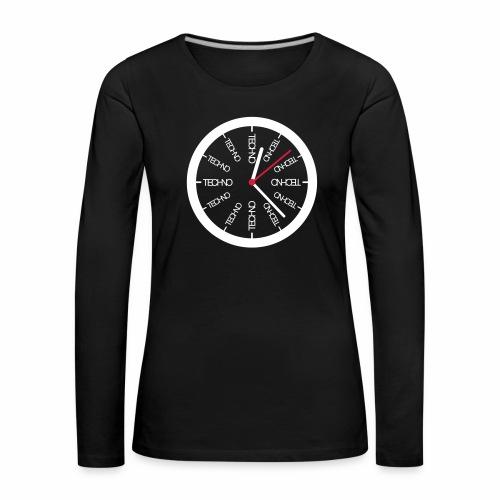 Uhr Techno All Time - langarm Shirt - Frauen Premium Langarmshirt