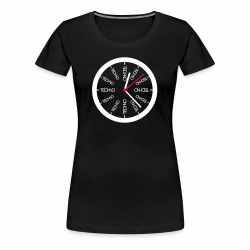 Uhr Techno All Time - T-Shirt - Frauen Premium T-Shirt