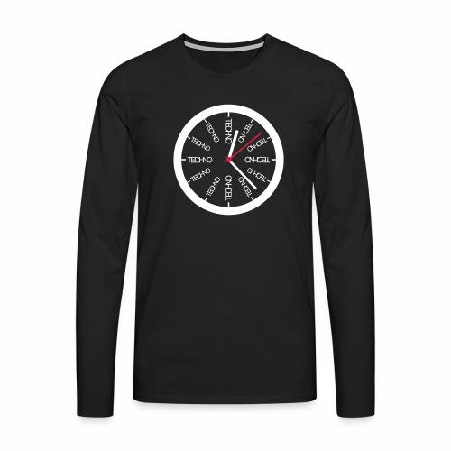 Uhr Techno All Time - langarm Shirt - Männer Premium Langarmshirt