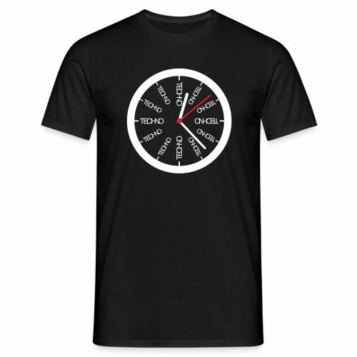 Uhr Techno All Time - T-Shirt - Männer T-Shirt
