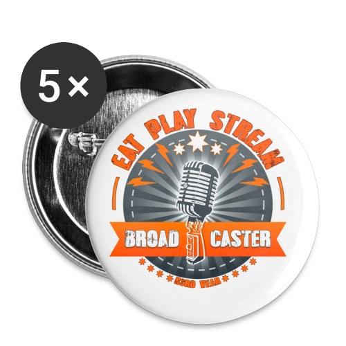 Eat, Play, Stream - Broadcaster - Buttons mittel 32 mm (5er Pack)