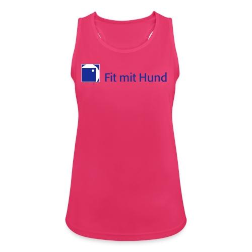 Fit mit Hund® Tank Top Frau - atmungsaktiv, normaler Schnitt (helle Farben) - Frauen Tank Top atmungsaktiv
