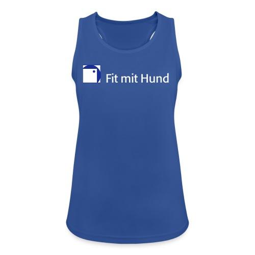 Fit mit Hund® Tank Top Frau - atmungsaktiv, normaler Schnitt (dunkle Farben) - Frauen Tank Top atmungsaktiv