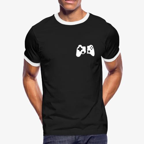 DER LÄSSIGE - BLACK - Männer Kontrast-T-Shirt